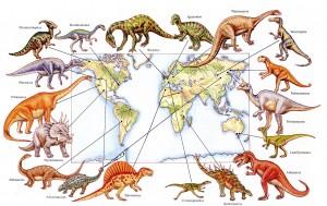 Dinosaurs Around the World - small