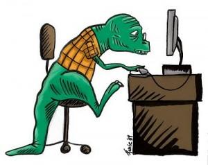 dinosaur & computer