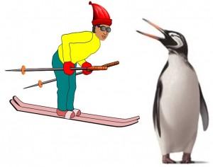 Giant Penguin & Skier