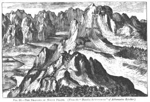 Mount Pilatus Dragon by Kircher