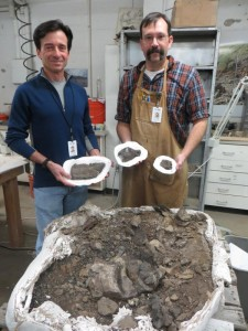 Tony and ron with dino specimens