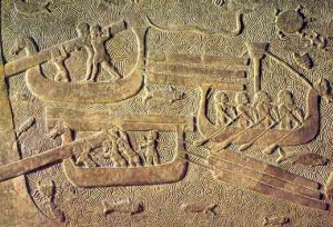 Assyrian Frieze - Sargon Sea Serpent