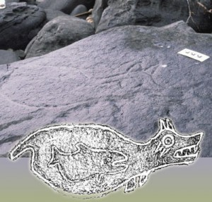 Petroglyph from Makah Indian Reservation in WA