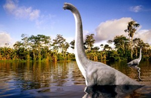 Sauropod in Swamp