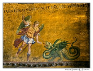 St Michael Slaying the Dragon San Marco in Venice