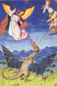 St. Michael & Angels fight the Dragon Lucifer