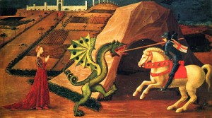 Uccello's St. George killing the dragon