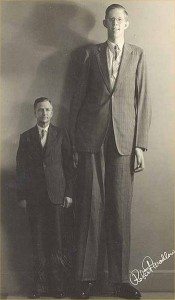 Robert Wadlow with father