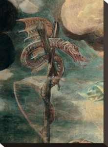 Brazen Serpent on Pole by Tintoretto 1579