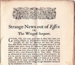 Strange News Out of Essex booklet